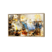 Chinese abstract printing pop framed canvas art