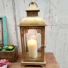 Vintage Gold Metal Glass Wholesale Moroccan Lantern