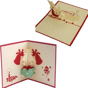2019 popular 3d popup card christmas and decoration tree