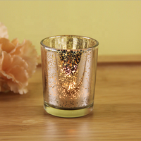 Wholesale Glass candleholder gold Candle Jar For Home Decoration
