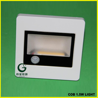 Indoor Flat Led Step Light With ABS Panel Wall Sensor Light