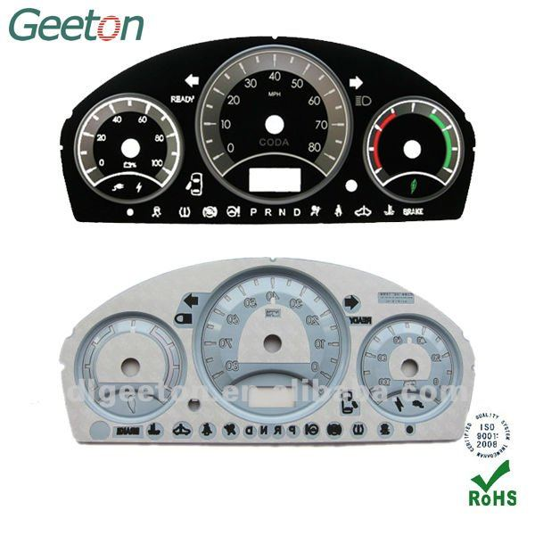 3D Screen Printing Auto Meter Dial For Used Cars