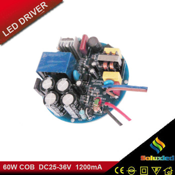 round shape led driver 60w