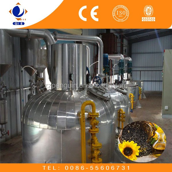 20-500TPD sunflower seed edible oil refinery plant, sunflower oil production line