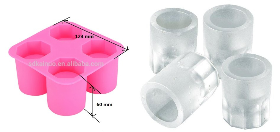 Cool shooters silicone ice glass shot model