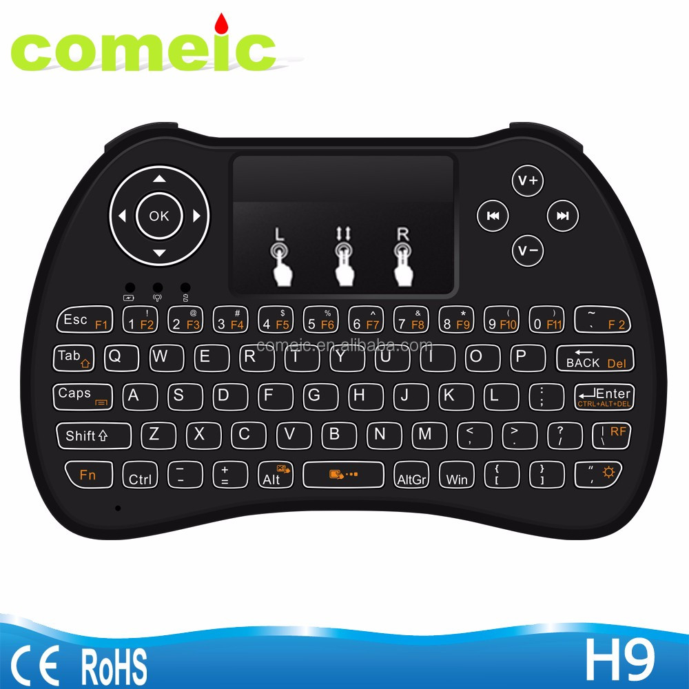 Mini Touchpad Air mouse H9 wireless keyboard
