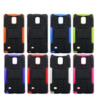 Hybrid TPU Plastic Armor Rugged Backstand Hard Case for Samsung Galaxy Note 4