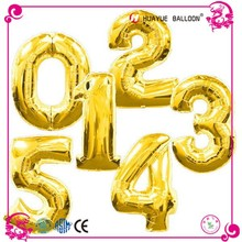 New Fashion number party aluminium foil balloon