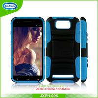 World best selling hybrid robot combo holster case for BLU studio 5.5