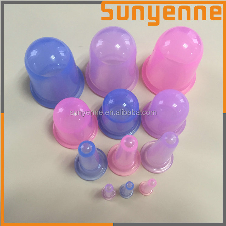Factory custom Body Massage Cupping Therapy Set anti-cellulite silicone massage cupping