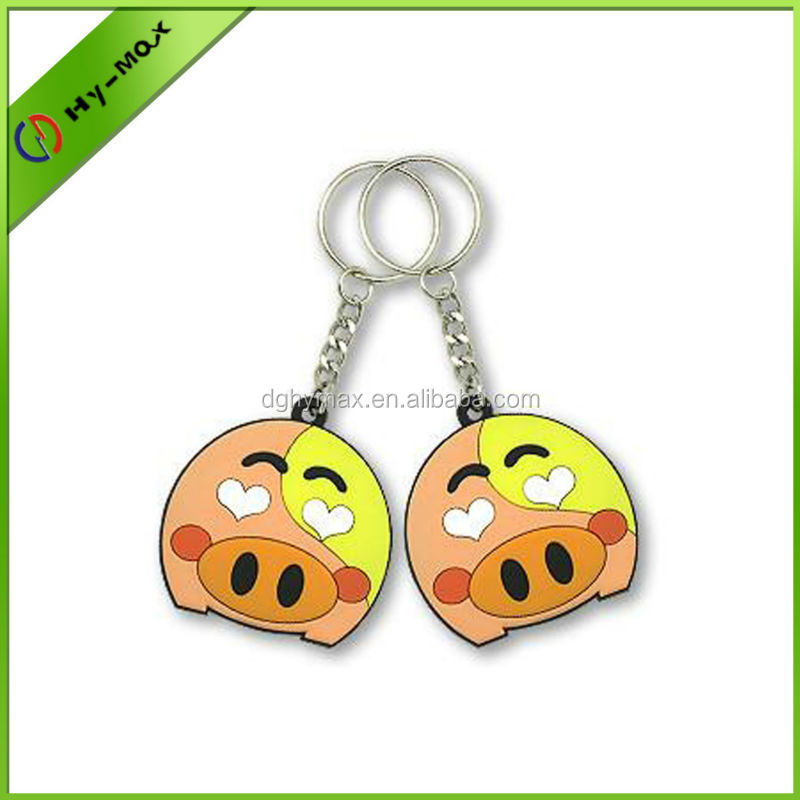 Hot sale Custom soft rubber pvc cartoon keychain