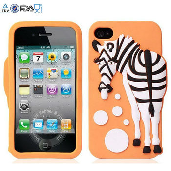 Animal silicone for iphone 5 case ,cat silicone case for iphone 4,how to make a cell phone silicon case covers with