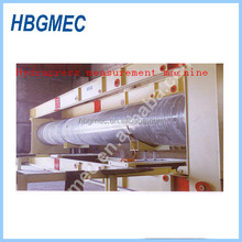 Fiber reinforced pipe winding machine with mold