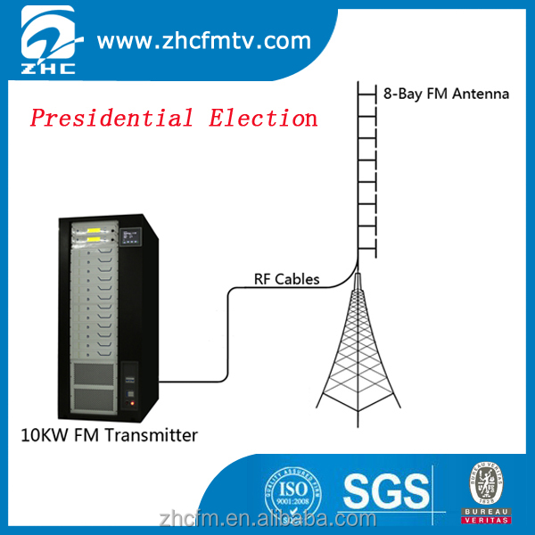 100KM Coverage 10KW FM Transmitter for Presidential Election