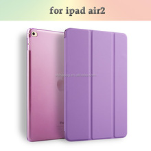 Hot Selling PU Leather Flip Smart Cover Case for iPad Air 2