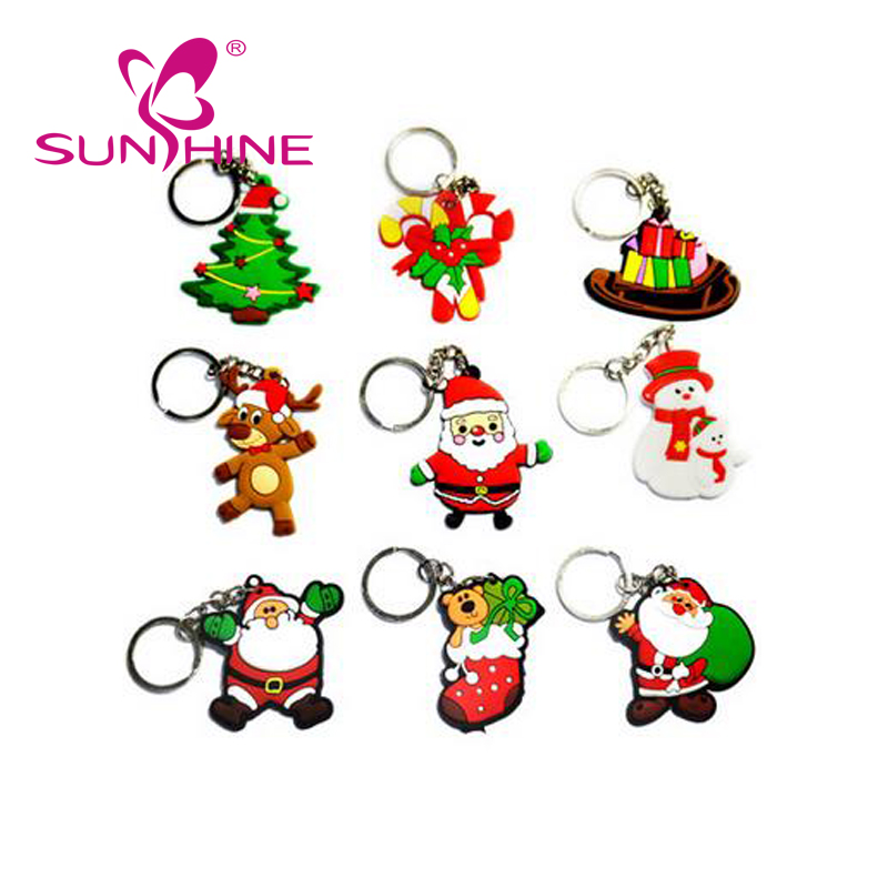 Promotional Christmas High Quality Cheap 3D Personalized Name Key Ring PVC Keychains Gift