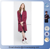 2016 fashion plus size double breasted belted long trench coat