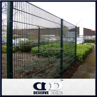 wrought iron double wire mesh fence and gate designs