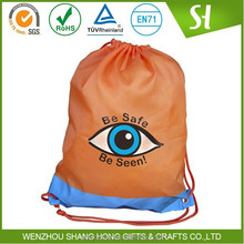 Factory Price whoelsale cheap nylon polyester kids drawstring bag