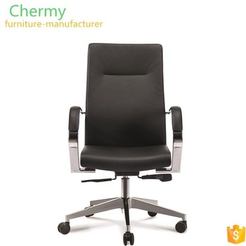 Commercial office furniture grey genuine leather executive office chair manufacturer China