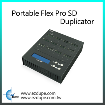 EZ Dupe Portable Flex Pro 1 to 23 targets port SD Card Duplicator