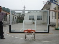 Glass Basketball Backboard with Aluminum Frame