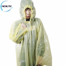 Disposable emergency pe rain poncho design coat custom printed ponchos