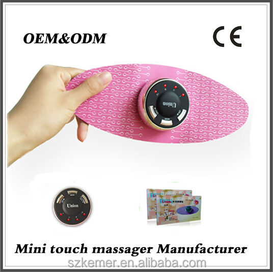 Mini hand held therapy vibrator gel pad butterfly massager electric shock massage