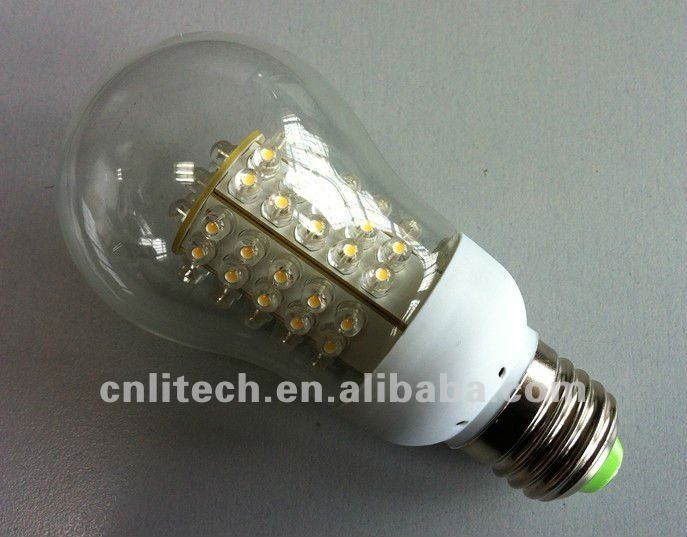 G60 glass covered 12v led corn light E27 5W