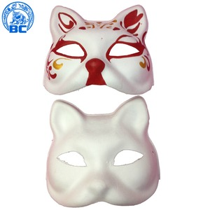 Factory supplies white party handmade blank paper half face sexy cat masquerade mask