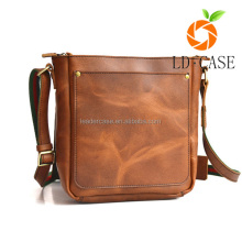 Genuine sheep leather vertical Men bags For Ipad 3 bags in single shoulder strap bag