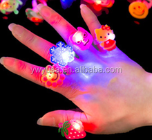 Christmas Toys Light Up Rubber Blinking Flashing microscope LED Finger Ring for Prom Party