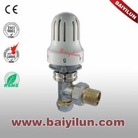 CE aluminum plastic pipe thermostatic radiator valve;radiator control angle valve with H type