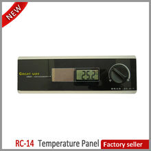 Solar Energy Digital Electronic Embedded Temperature Panel LCD Thermometer Insert Temperature Indicator RC-14
