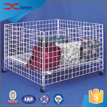 Supermarket retail store toys pillow storage container metal wire basket display rack