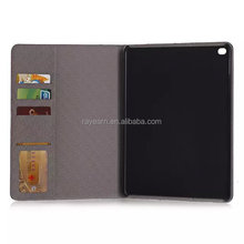 Hot selling wallet leather case with card slot British style protective case for Apple iPad air 2