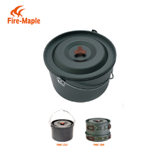 Hot Outdoor Picnic Large Hanging Aluminum Cooking Pot Cookware With Stainless Steel Handle