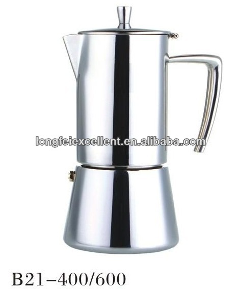 4/6cup stainless steel electric moka espresso stove top moka coffee maker
