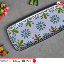 Melamine rectangular printing serving tray