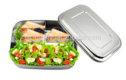 Korean type rectangular stainless steel bento box food container