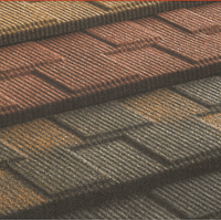 recycled rubber roofing tiles ,building material colorful stone coated metal roof tile