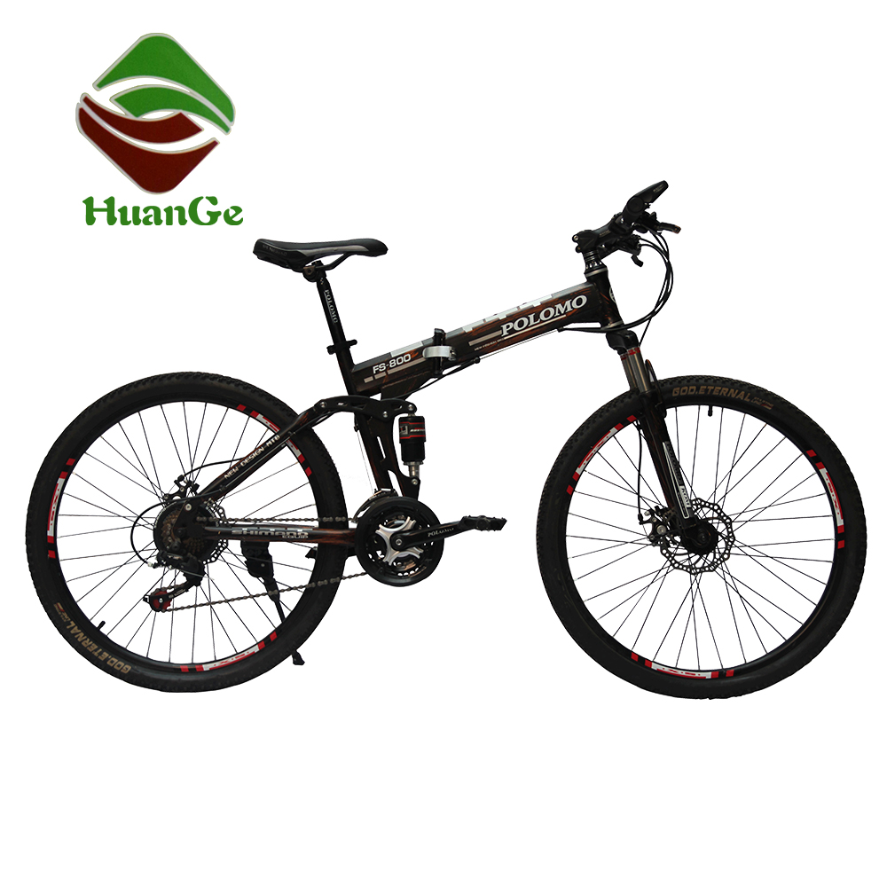 26 inch 21 speed folding mountain bike suspension folding bicycle for wholesales