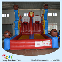 inflatable basketball hoop court sport game