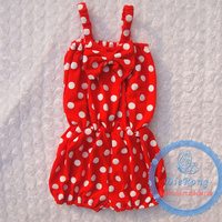 soft cotton newborn baby romper red white dot suit 0-4 years for baby kids