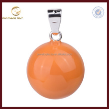 pure candy orange color harmony bola ball for kids , mexican bola chime ball