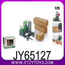 Factory price 1:25 scale metal truck model toy sliding alloy forklift