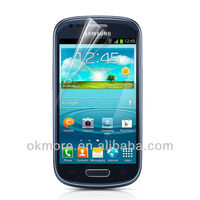 Imported raw material 0.125mm thickness 4H hardness high clear screen protector for samsung i8190 galaxy s3 mini