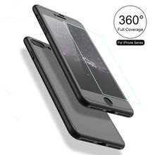 For iPhone 7 Case 360 Degree Mobile Phone Full Cover with Nano Glass Protector Hard Case for iPhone 7 7 plus