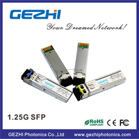Up to 1.25Gbps SFP optical data links 1.25Gbps, 20km, 1310nm DFB laser
