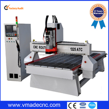 CE standard cnc router machine 4 axis with atc YASKAWA Servo motor and driver/wood cnc router 1325